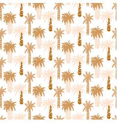 Palm trees retro seamless pattern tropic vector