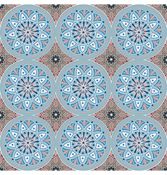 pattern with mandalas vector image
