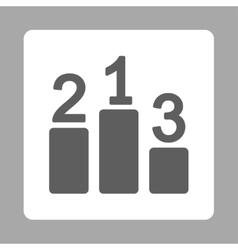Pedestal icon from Award Buttons OverColor Set vector