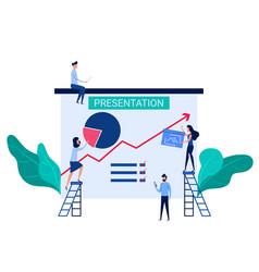 people cooperation prepare business presentation vector image