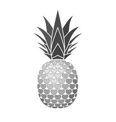 pineapple sign with hearts for t-shirt tropical vector image