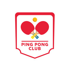 ping-pong rackets and ball isolated banner table vector image