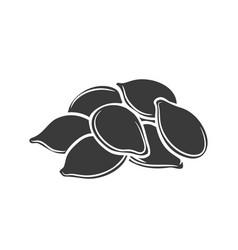 Pumpkin seeds glyph icon vector