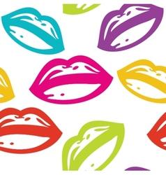 Retro lipstick traces set vector image