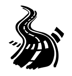 Road and Crosswalk stripes vector image