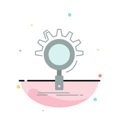 seo search optimization process setting flat vector image