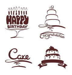 Set of design elements - cakes vector image