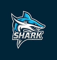 shark esport gaming mascot logo template vector image
