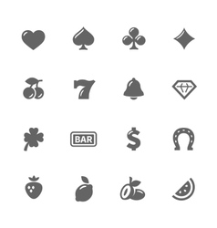 Simple Slot Machine Icons vector image