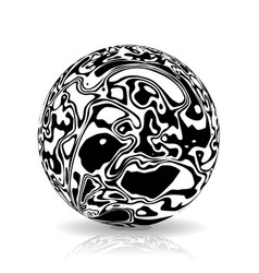 sphere in the form of lines marble style ink vector image