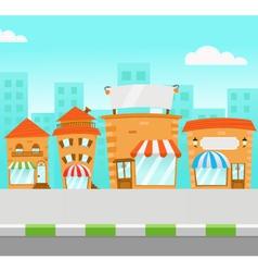 strip mall vector image
