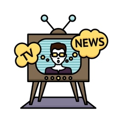 Tv News Poster vector