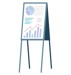 whiteboard with prepared info for presentation vector image