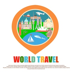 World Tourist Attractions vector image