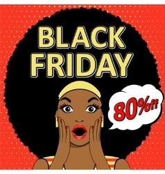 Black Friday 9 vector image vector image