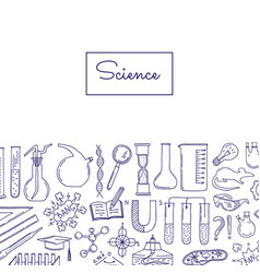 science or chemistry elements background vector image