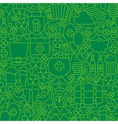 Thin Green Line Irish Saint Patrick Day Seamless vector image