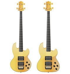 Yellow Electric Guitar vector image vector image