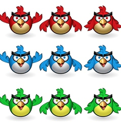 angry owls set vector image vector image