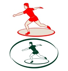 Athletics Discus throwing-1 vector image vector image