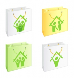 bags with pictograms vector image vector image