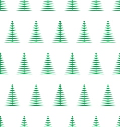 christmas tree seamless pattern1 vector image vector image