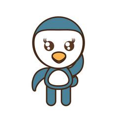 cute penguin toy kawaii image vector image