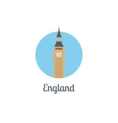 England landmark isolated round icon vector image vector image