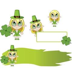 Little elf Green vector image