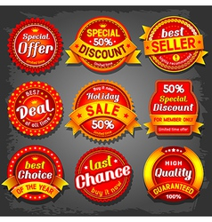 Offer label vector image vector image