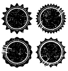 Retro grunge stamps and badges vector image