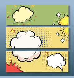 Set of comics boom backgrounds vector image