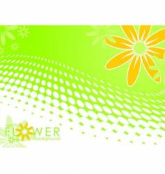 spring illustration with flower vector image vector image