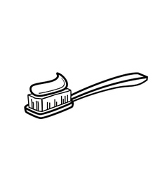 Toothbrush icon vector image vector image