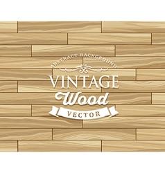 Vintage Tile wood floor striped design vector image