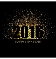 2016 Happy New Year glowing background vector image vector image