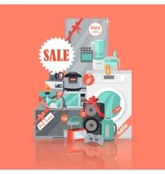 Big super web sale banner household appliances vector