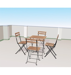 chairs on terrace vector image vector image