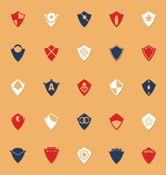 Design shield classic color icons with shadow vector image vector image