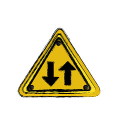 emblem metal warning icon vector image vector image