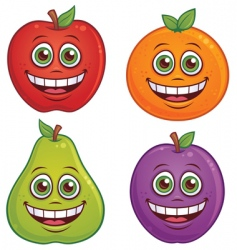 fruit characters vector image vector image