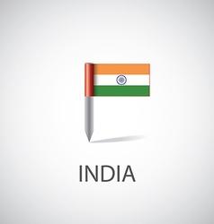 India flag pin vector