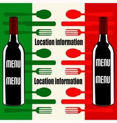 Italian Wine Menu vector image