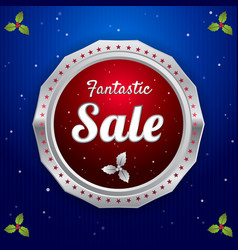 retro promotion discount sale and guarantee tag vector image