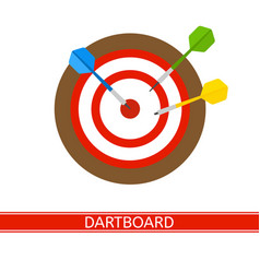 darts and dart board isolated vector image vector image