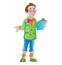 male supervisor vector image