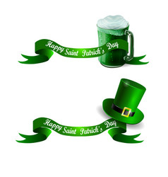 stpatrick s day banner with beer mug vector image vector image