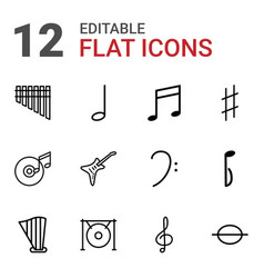 12 melody icons vector