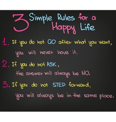 3 Simple Rules in Life vector