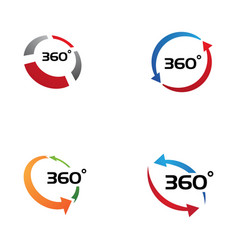 360 degree view related icons vector image